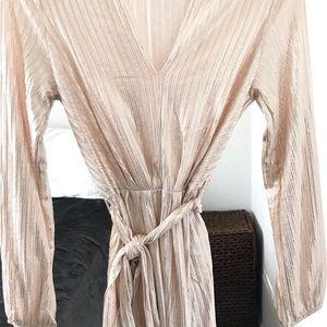 Vici champagne shimmer dress